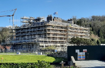 Scaffolded house